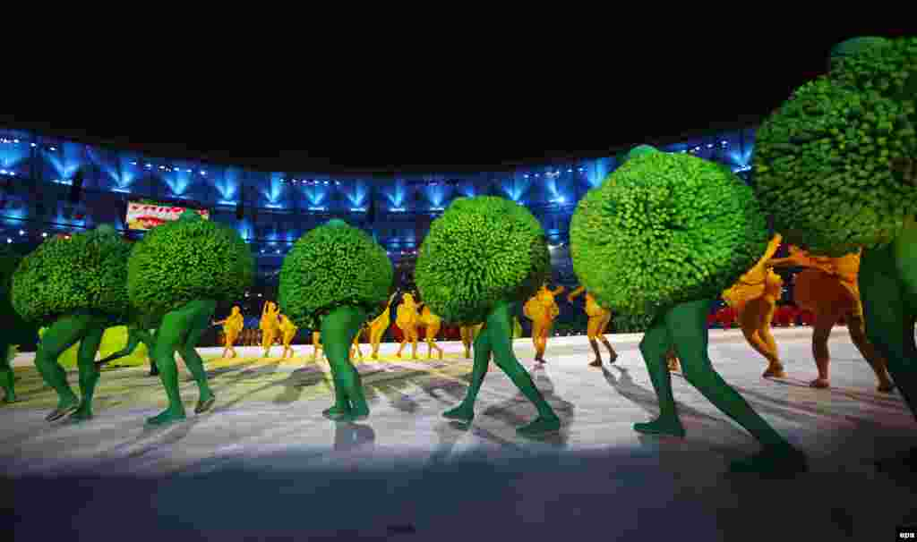 Dancers perform during the closing ceremony.