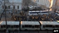Посилена охорона українського парламенту