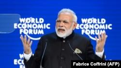 Narendra Modi indijski premijer u uvodnom govoru na Svjetskom ekonomskom forumu u Davosu 23. januar 2018.