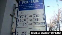 Кыргызстанда доллардын сомго карата катышында чоң өзгөрүү байкала элек.