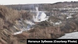 """Подземный пожар у шахты """"Красный Кузбасс"""" в Киселевске"""