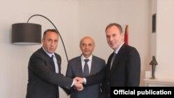 Ramush Haradinaj, Isa Mustafa dhe Fatmir Limaj
