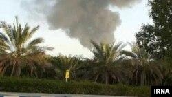 Iran - Fire at Shahid Rajaee port on Iran's Gulf coast. June 5, 2019