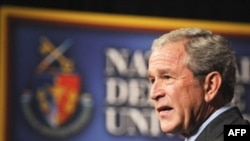"President Bush said that ""normal life is returning to communities"" in Iraq."