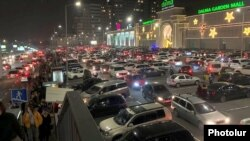 Cars parked outside Dalma Garden Mall, a large shopping center in Yerevan, January 9, 2020