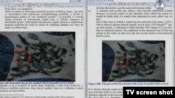 Snimak s istrage jednog od granatiranja