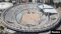 """Rio de Janeyrodagi """"Marakana"""" stadioni - JCh-2014 o'yinlariga mezbonlik qiluvchi 12 futbol maydonidan biri."""