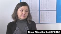 Парамоновка мектебінің мұғалімі Нағима Нұркенова. Павлодар облысы, 31 қаңтар 2017 жыл.