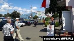 Пікет з удзелам Сяргея Касабуцкага