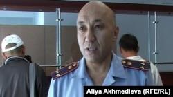 Нурмухан Боскынбаев, инспектор миграционной полиции ДВД Алматинской области.