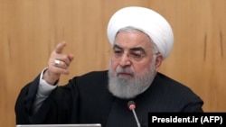 Iranian President Hassan Rouhani chairs a cabinet meeting in Tehran on January 15, 2020
