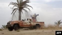 حجه ولایت کې د یمن حکومتي ځواکونو پلوي سرتېرو مخکې تګ