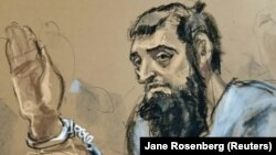 Sayfullo Saipov in a courtroom sketch