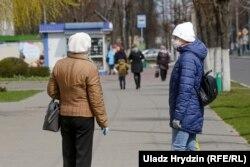 Жыхары Асіповічаў у масках