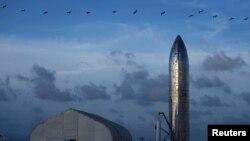 Ракета Starship на палігоне ў Тэхасе