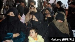 تعداد از زنان محبوس در زندان بادام باغ کابل