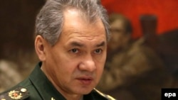 "Russian Defense minister Sergei Shoigu said that ""the task set by the president -- to prevent military superiority over Russia -- will be fulfilled unconditionally."""