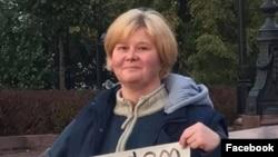 Мать фигуранта «московского дела» Даниила Конона Наталья Конон на пикете (архивное фото).