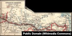 Историческая карта Транссибирской магистрали, 1897
