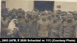 Grup de prizonieri la Dobrovăț, 1918