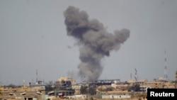 Авиаудары по Тикриту. 27 марта 2015 года.