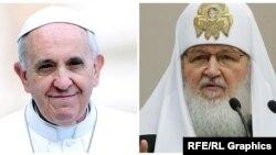 Рим папасы Франциск менен Орус чиркөөсүнүн патриархы Кирилл