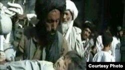 یکی از کودکان کشته شده بر اثر حملات هوایی ناتو- استان هلمند