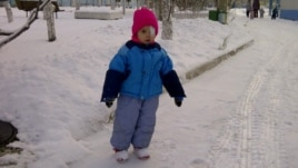Alina, one of the last children from Russia to be adopted by a U.S. person before the Jan 1 ban, November 2012.