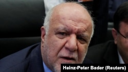 File photo - Iran's oil minister Bijan Zanganeh, who is close to President Hassan Rouhani has come under sustained attacks by hardliners.