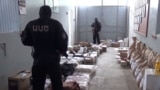Armenia - A screenshot of official video of security officers finding larges stockpiles of food in a villa belonging to retired General Manvel Grigorian, 17 June 2018.