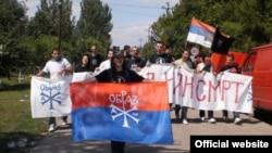 Pristalice Obraza u Lazarevu, mestu u kojem je uhapšen haški optuženik Ratko Mladić