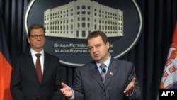 Premijer Ivica Dačić i nemački ministar spoljnih poslova Gvido Vestervele u Beogradu 20. maja 2013.