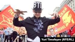 Митинг коммунистов против вступления России в ВТО в Москве. 3 июля