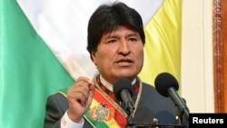 اوو مورالس رئیس جمهور بولیویا، ۲۲ جنوری ۲۰۱۵