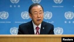 Пан Ги Мун, БҰҰ бас хатшысы. Нью-Йорк, 25 қараша 2013 жыл.