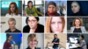 Teaser graphic for March 3 infographic on 12 women who make headlines, pressroom