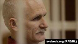 Суд над Алесем Бяляцкім адбываўся ў лістападзе 2011 году.