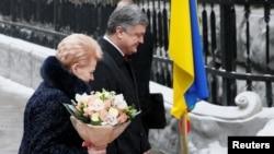 Даля Ґрібаускайте і Петро Порошенко, Київ, 12 грудня 2016 року