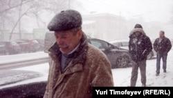 Снежная буря в Москве