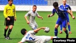 Матч в рамках чемпионата Казахстана по футболу.