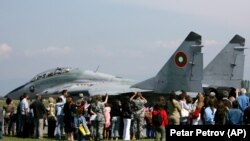 Un avion Mig-29 la baza militară Graf Ignatievo, Bulgaria