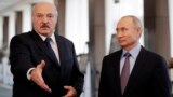 Vladimir Putin (right) and Russia will watch to see if cracks show in Alyaksandr Lukashenka's control over Belarusian security forces.