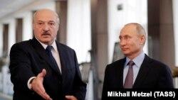 Пуцін і Лукашэнка ў Сочы, люты 2019