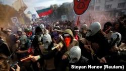 La o demonstrație la Sofia împotriva corupției crescînde