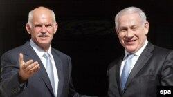 Минатомесечната средба на грчкиот премиер Јоргос Папандреу и неговиот израелски колега Бенџамин Бенџамин Нетанјаху