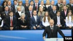 """""""Единая Россия"""" партиясының Х-съезі. Мәскеу, 20 қараша, 2008 жыл."""