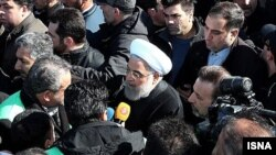 President Hassan Rouhani at the anniversary of revolution rally. February 11, 2020.