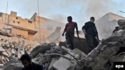Suriyadan görüntü, arxiv fotosu
