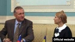 Украин өкмөт башчысы Юлия Тимошенко жана Чехиянын премьер-министри Мирек Тополанек, 11Jan2009