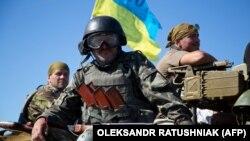 Украинские военнослужащие возле Артемовска